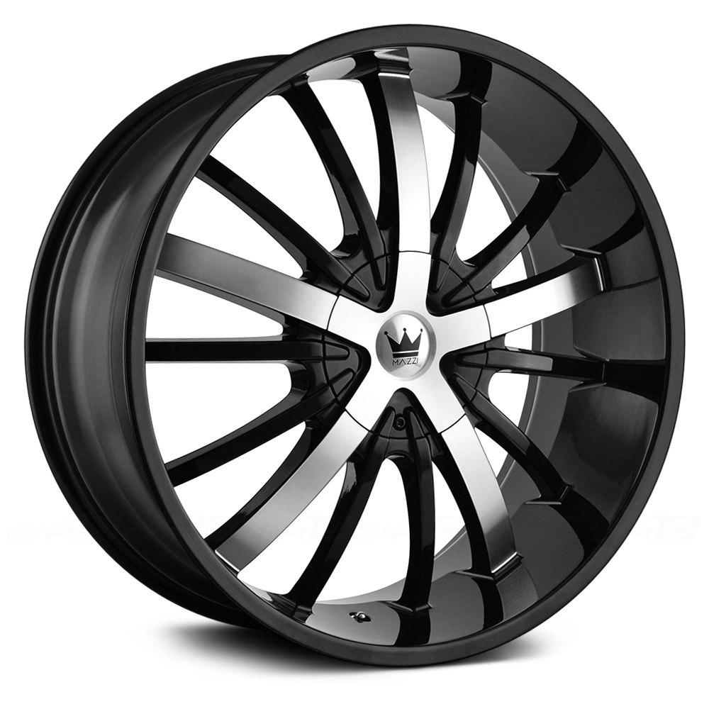 MAZZI® ESSENCE Wheels - Gloss Black with Machined Face Rims