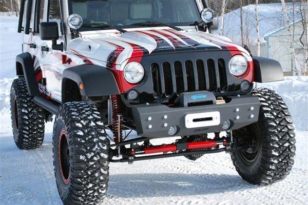 2012 Wrangler Bumper >> MBRP® - Jeep Wrangler 2012 Stubby Black Front Winch HD Bumper