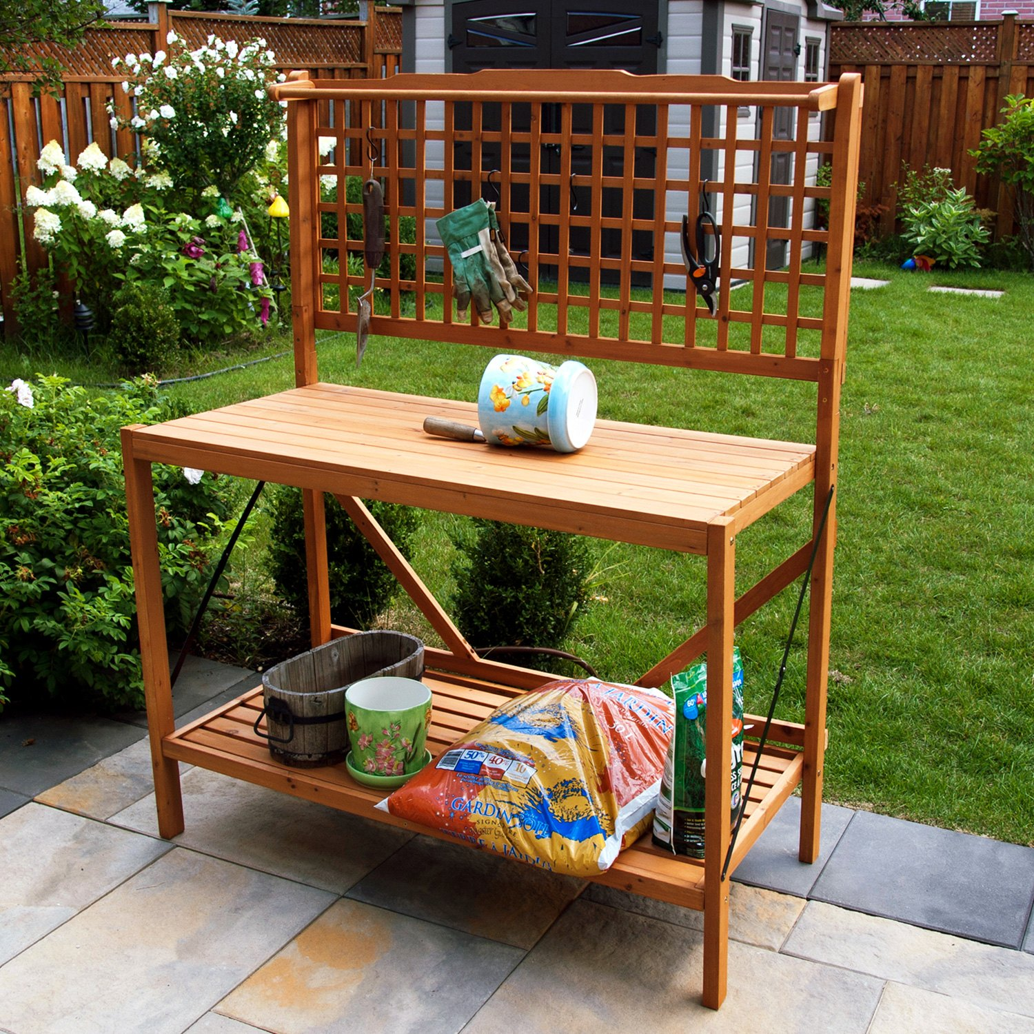 sam bar denise potting table turned diy be outdoor guest with my bench