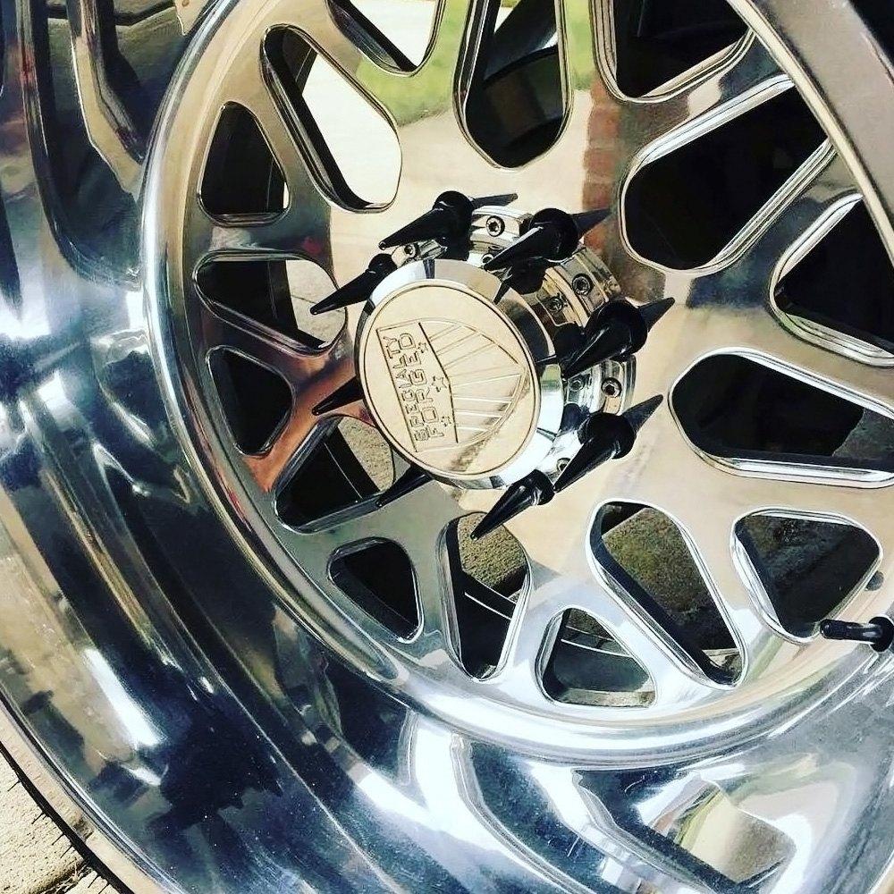 Metal Lugz 174 7004k8 Blk Black Cone Seat Spiked Lug Nuts