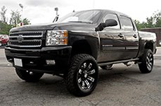 METAL MULISHA® - 13 Flat Black with Machined Face on Chevy Silverado