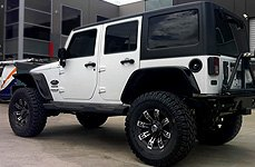 METAL MULISHA® - 13 Flat Black with Machined Face on Jeep Wrangler