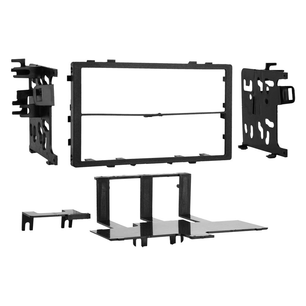 Metra 95 7801 Double Din Black Stereo Dash Kit With Rear Support 2002 Acura Tl Aftermarket Radio Brackets