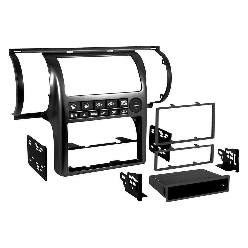 Single Double Din Black Stereo Dash Kit
