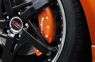 MGP® - Gloss Amber Caliper Covers with Magnusson Logo