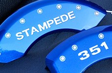 MGP® - Gloss Blue Caliper Covers with Stampede 351 Logo