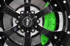 MGP® - Gree Caliper Covers with Ford Oval Logo