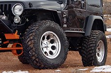MICKEY THOMPSON® - CLASSIC III Polished on Jeep Wrangler