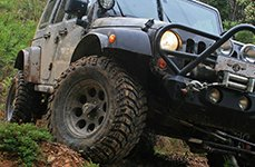 MICKEY THOMPSON® - CLASSIC III Satin Black on Jeep Wrangler