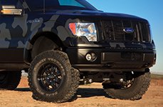 MICKEY THOMPSON® - SIDEBITER II Satin Black on Ford F-150