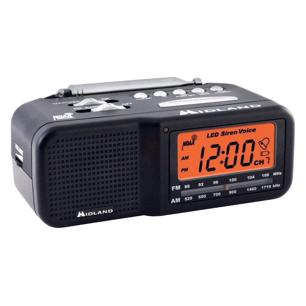Midland Wr11 7 Channel Desktop Alarm Clock Weather