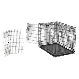 Midwest pet ultima pro double door dog crate for Double door with dog door
