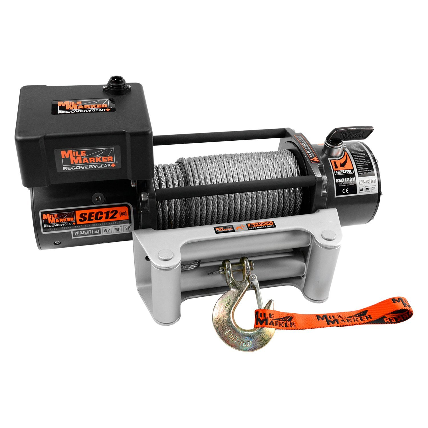 Mile Marker® 76-50251BW - 12,000 lbs Waterproof Electric Winch With ...