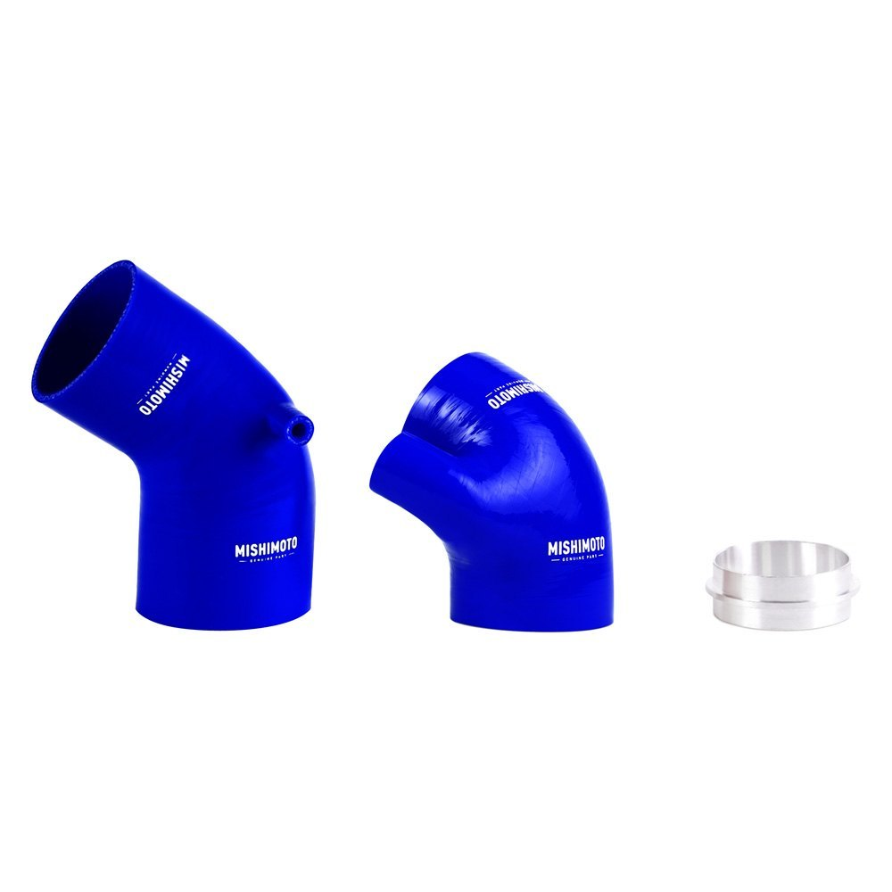 mishimoto mmhose e46 330ibl   silicone blue air intake boot