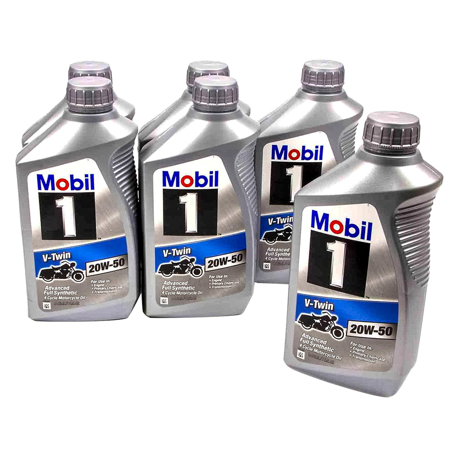 Mobil 1 112630 v twin sae 20w 50 motorcycle 1 quart motor for Mobil 1 annual protection motor oil barcode