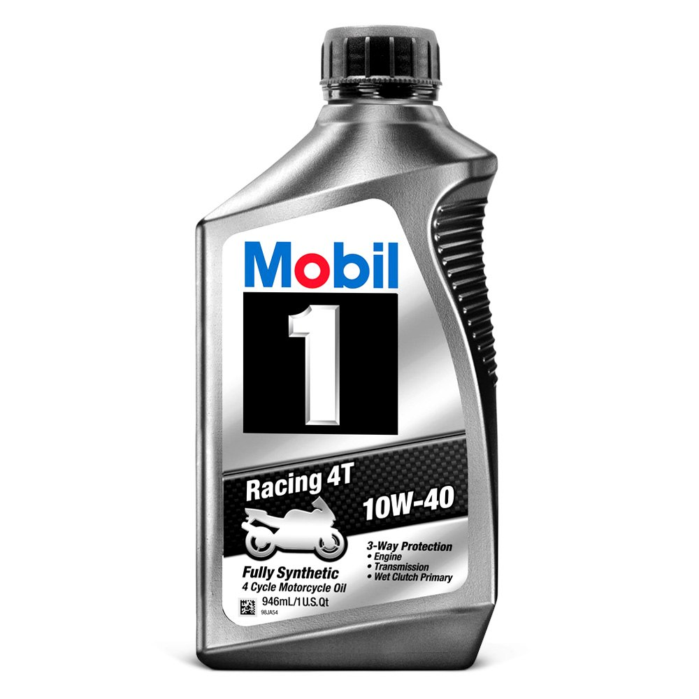 mobil 1 10w 40 racing oil motorcycle. Black Bedroom Furniture Sets. Home Design Ideas
