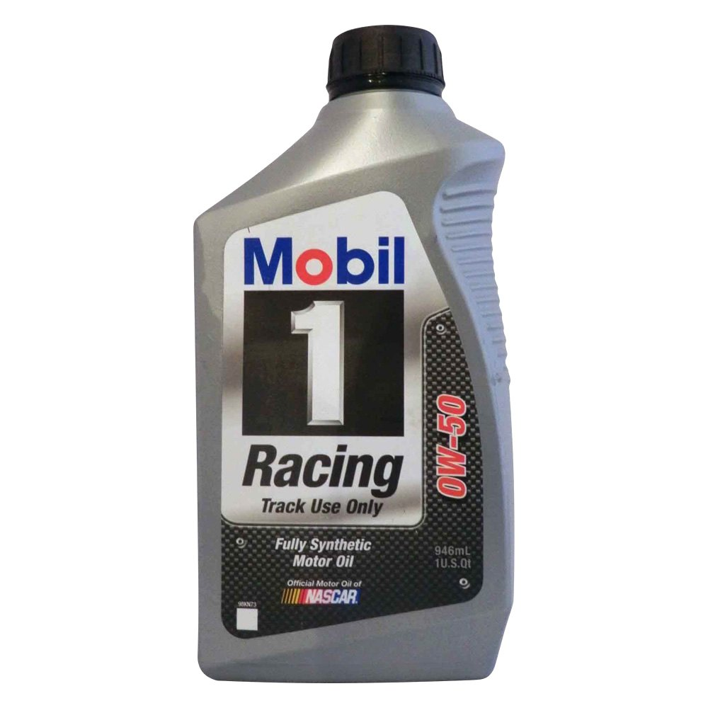Mobil 1 104145 1 sae 0w 50 racing synthetic motor oil 1 for Racing motor oil comparison