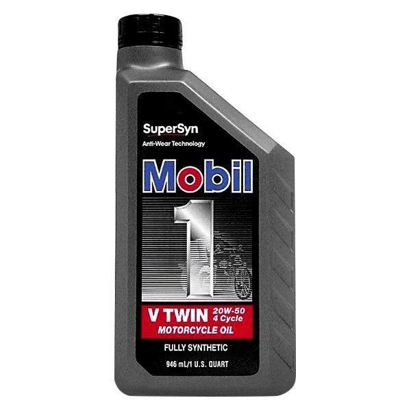 Mobil 1 Sae 20w 50 V Twin Oil 1 Quart Ebay