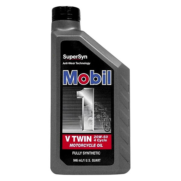 Mobil 1 112630 Sae 20w 50 V Twin Oil Case 6x1 Quart
