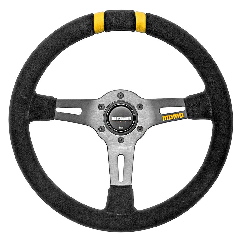 Momo 174 Nissan 350z 2003 2009 Mod Drift Series Steering Wheel Black Suede