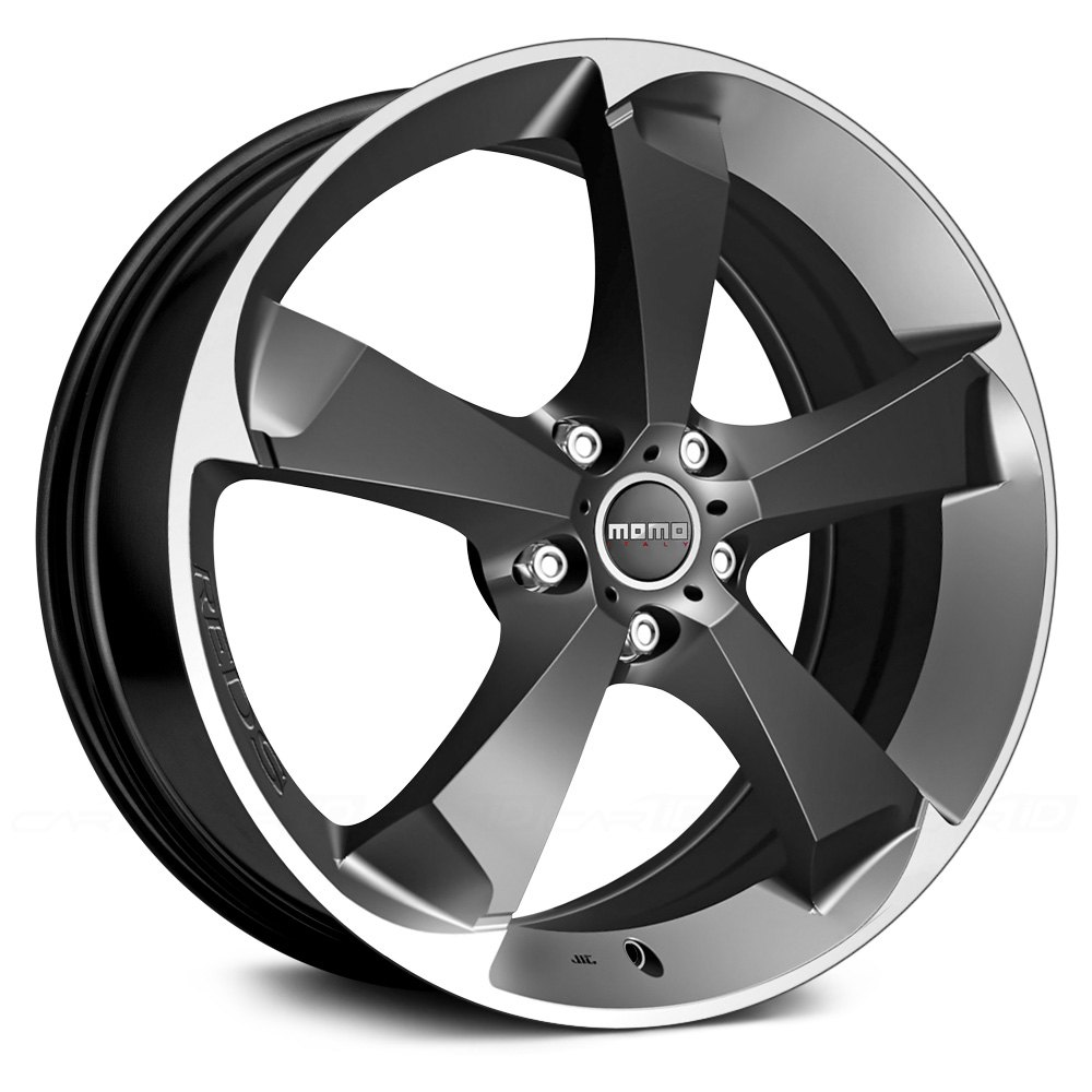 Momo 174 Drone Wheels Anthracite With Machined Bezel Rims