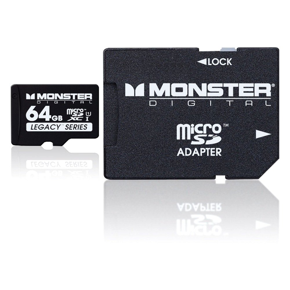 monster digital sdusa0064l 64 gb sdhc micro sd memory card. Black Bedroom Furniture Sets. Home Design Ideas