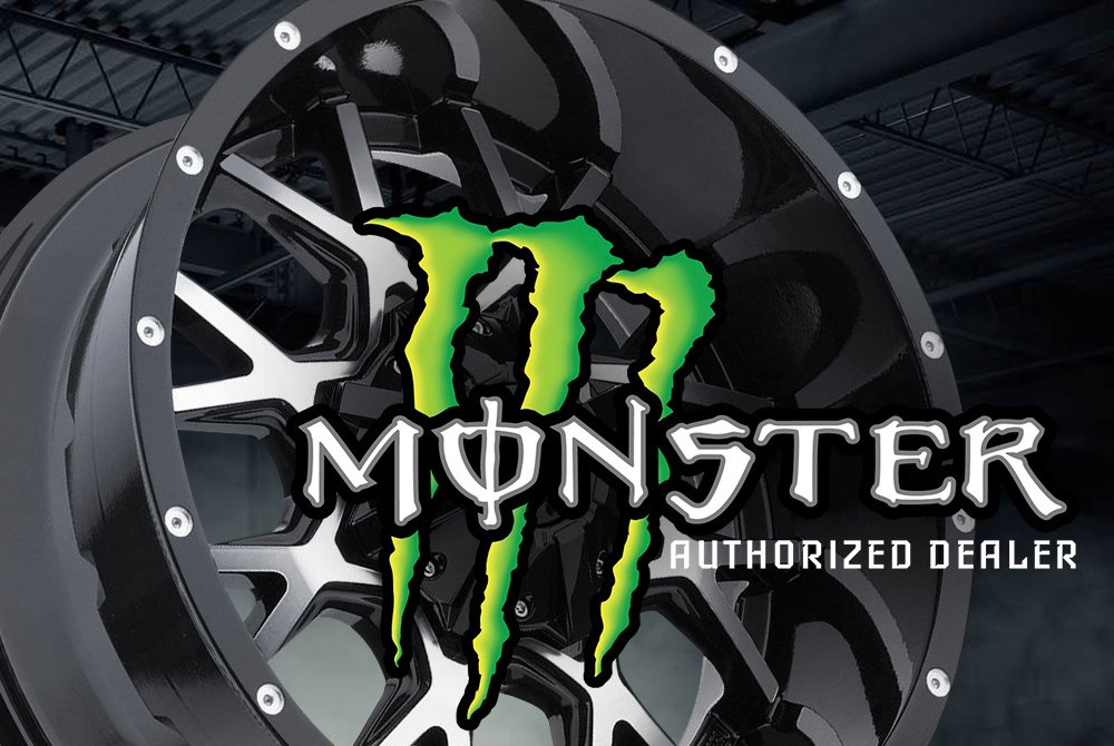 monster energy 540b wheels satin black rims