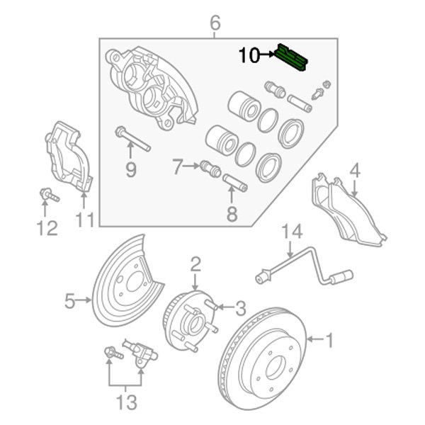 Mopar Dodge Ram 2000 Disc Brake Anti Rattle Clip