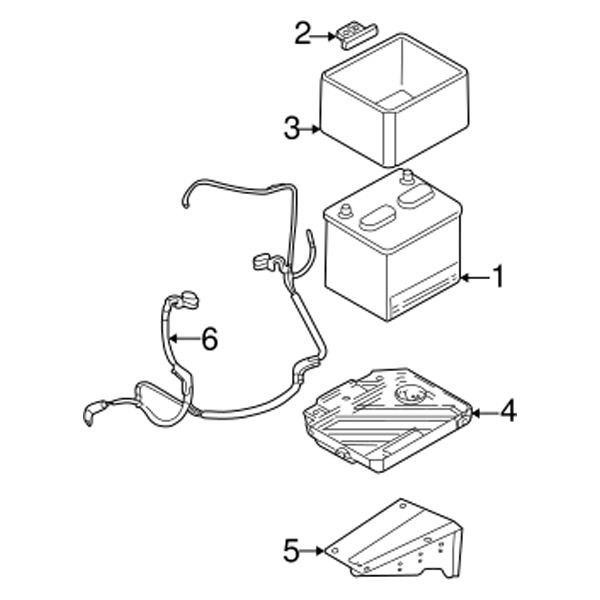 mopar chrysler pt cruiser 2 4l 2004 battery cable. Black Bedroom Furniture Sets. Home Design Ideas