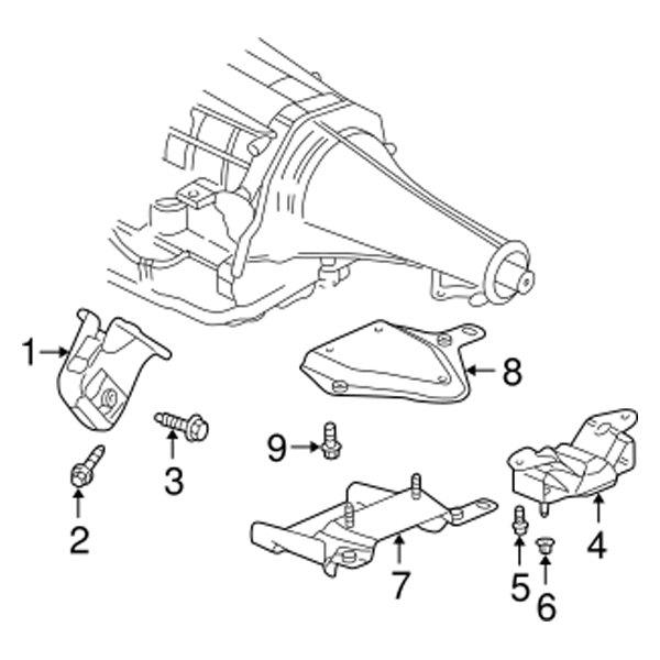 for dodge ram 1500 03 05 light duty engine mount heat insulator 05 Ram Lights part number 52020602ad