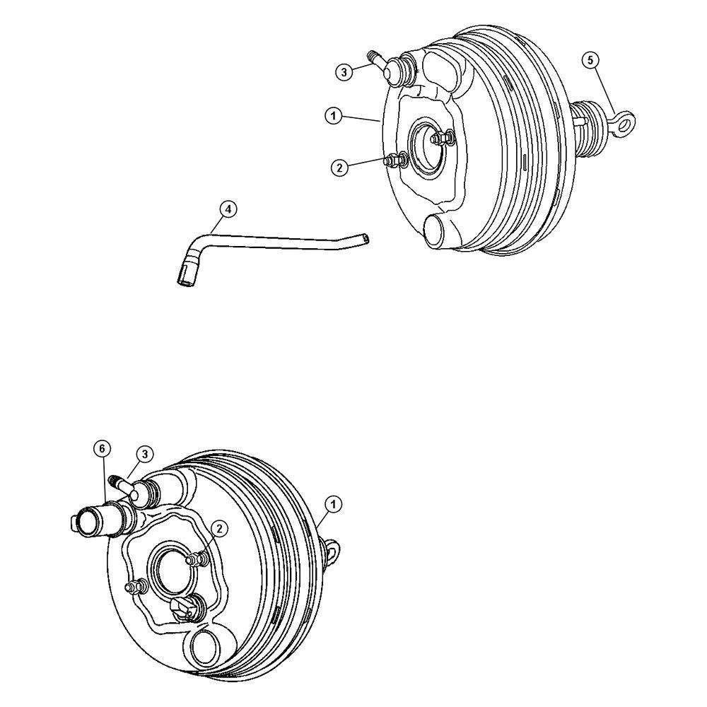 Mopar® 05139145AA - Power Brake Booster
