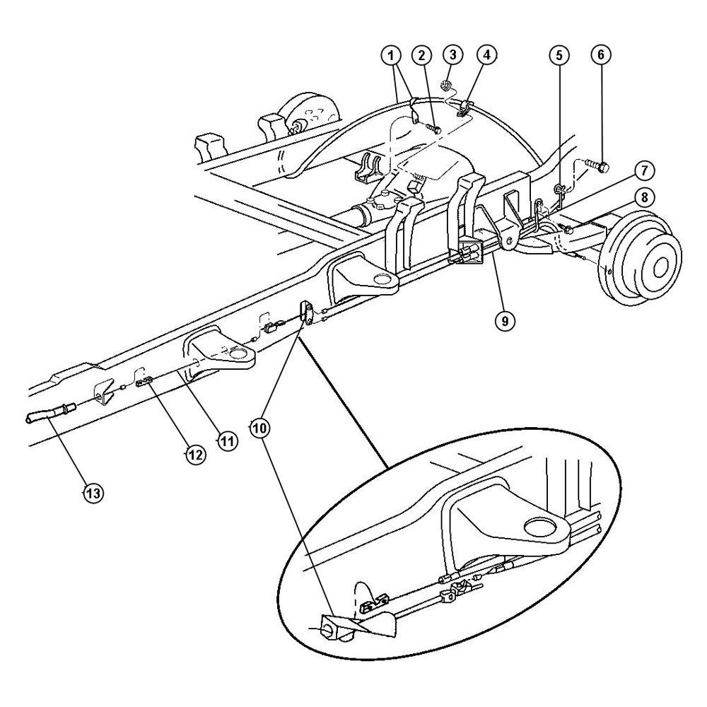 2001 dodge durango how to adjust parking brake
