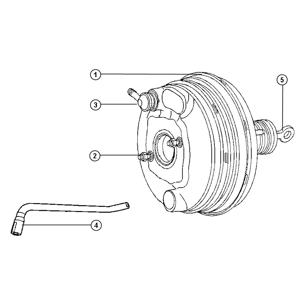 Mopar® 68033785AA - Power Brake Booster