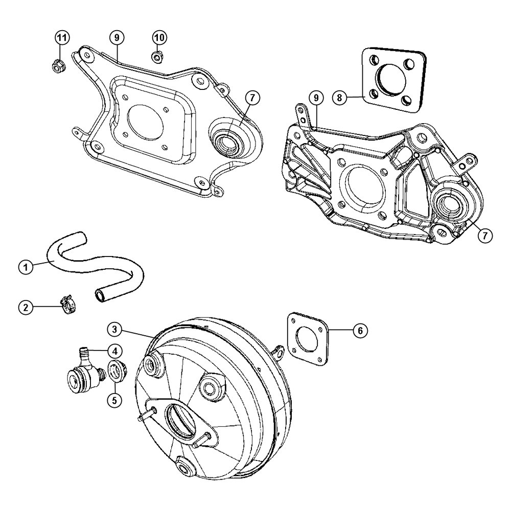 Mopar® 68039279AC - Power Brake Booster