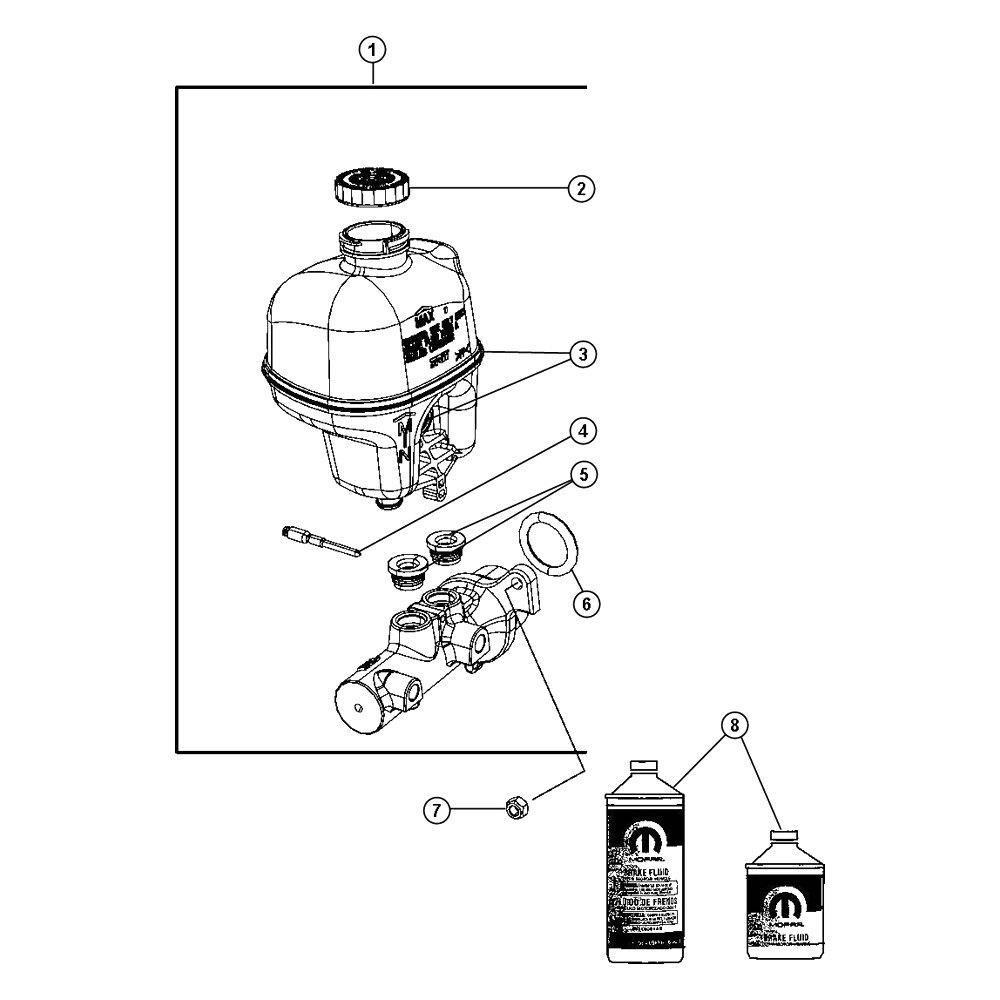 Brake Master Cylinder Reservoir Mopar 68054878AA
