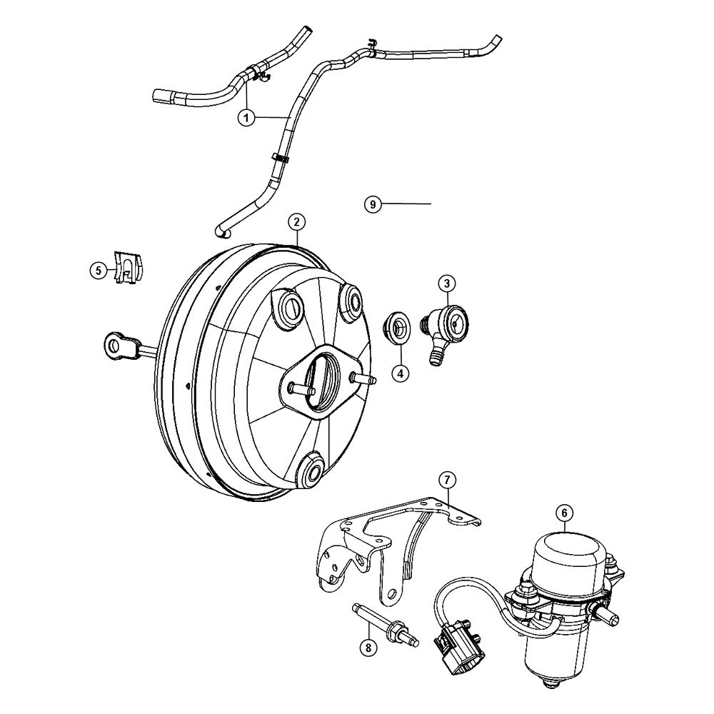 Mopar® 68067672AB - Power Brake Booster