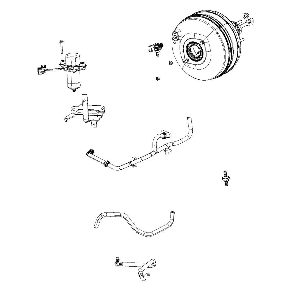Mopar® 68197370AA - Power Brake Booster