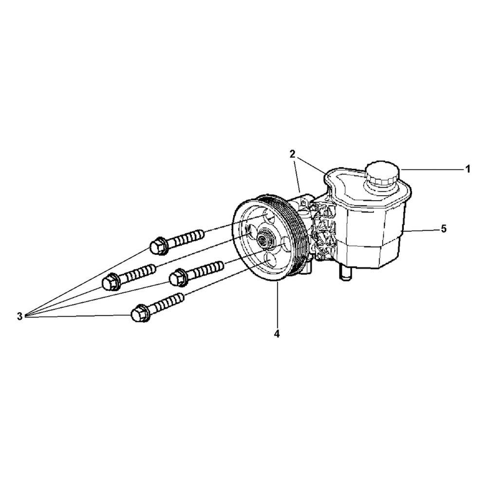 mopar u00ae 68102453aa - power steering pump kit