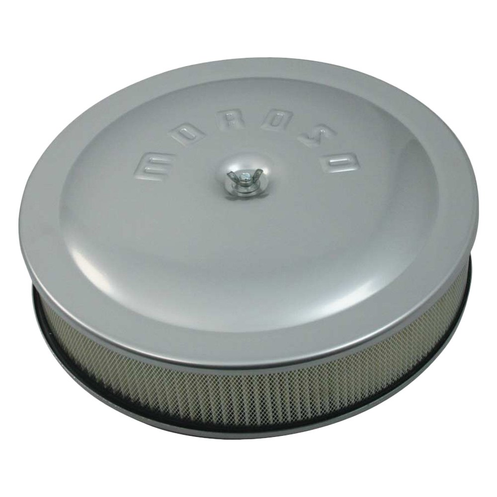 Low Profile Air Cleaner Assembly : Moroso low profile racing air cleaner assembly