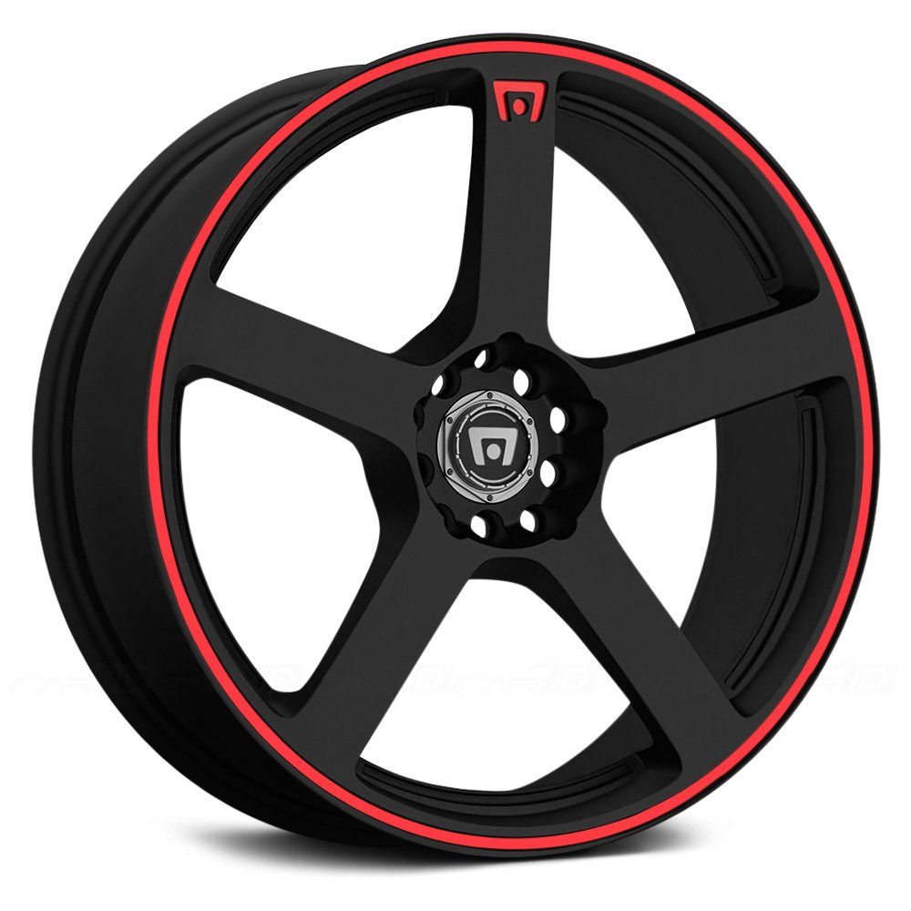 Motegi Racing 174 Mr116 Wheels Matte Black With Red Stripe Rims