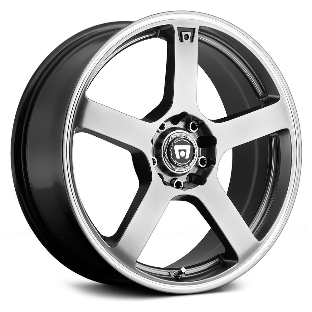 MOTEGI RACING® MR116 Wheels - Silver with Machined Stripe Rims