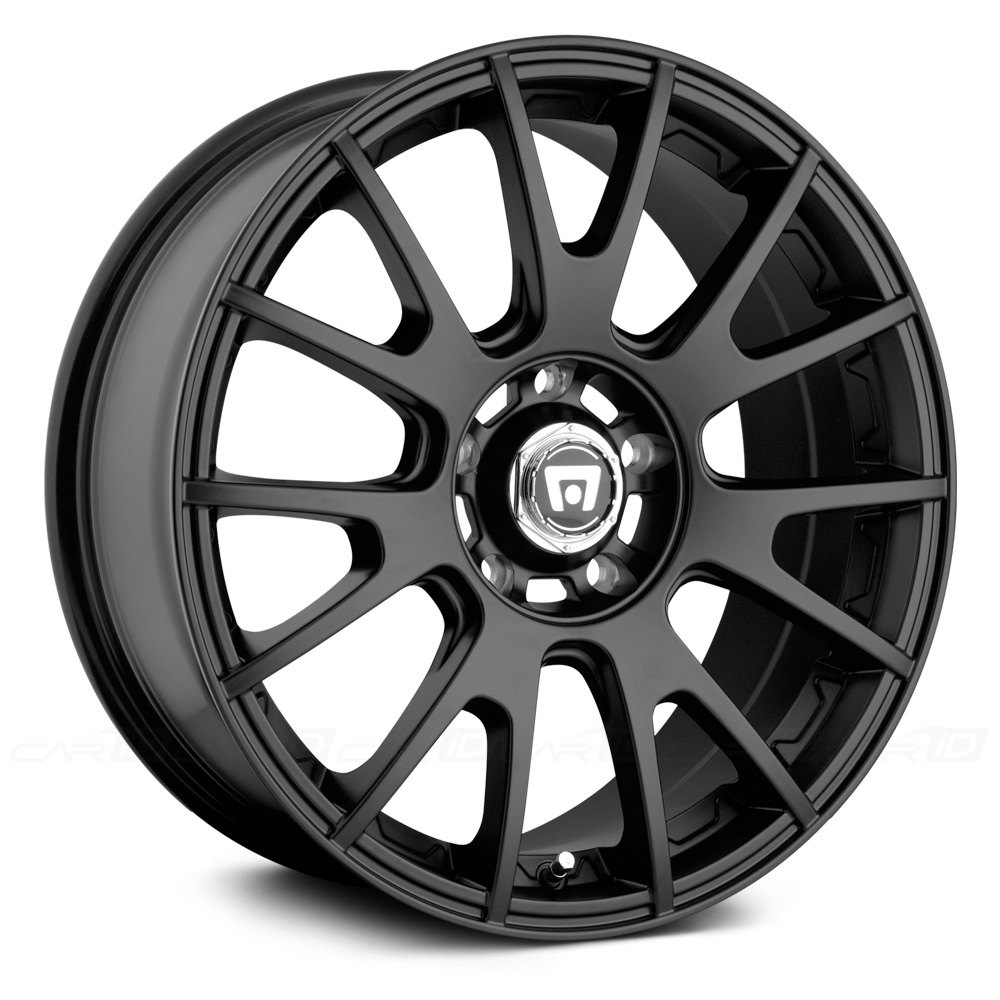 MOTEGI RACING® MR118 Wheels - Matte Black with Clear Coat Rims