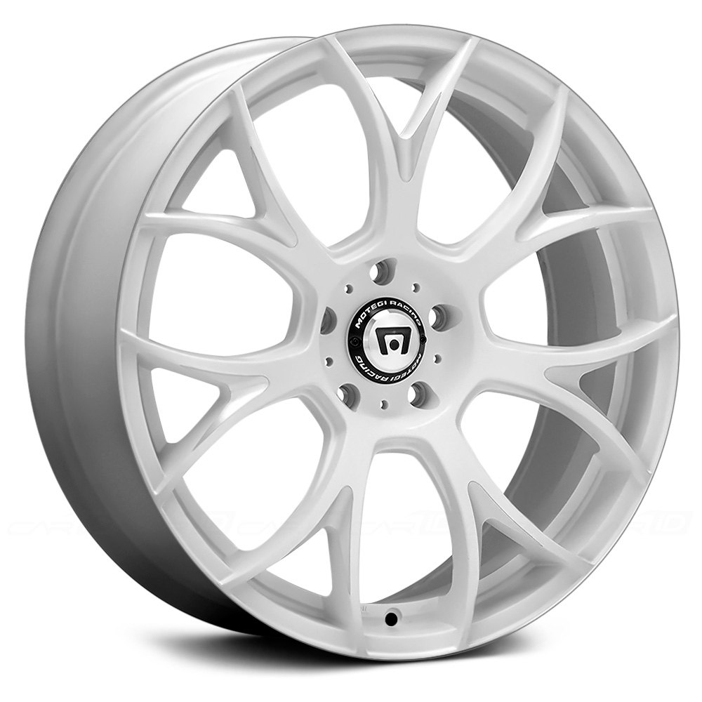White Chevy Cruze >> MOTEGI RACING® MR126 Wheels - Matte White with Milled Accents Rims