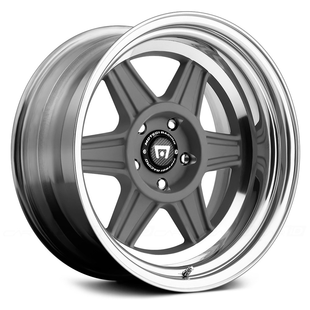 MOTEGI RACING® MR224 2PC Wheels - Mag Gray with Polished ...
