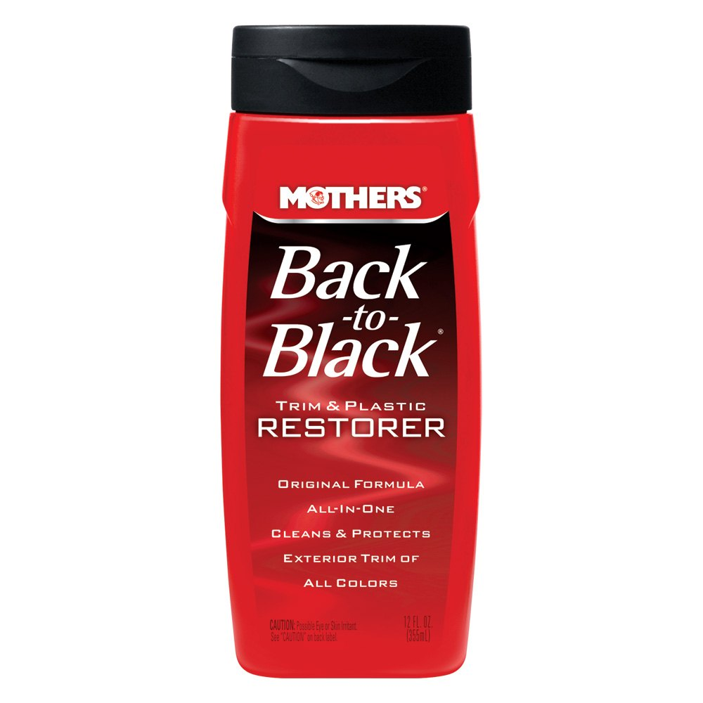 Mothers back to black 12 oz trim and plastic restorer Black interior car trim restorer
