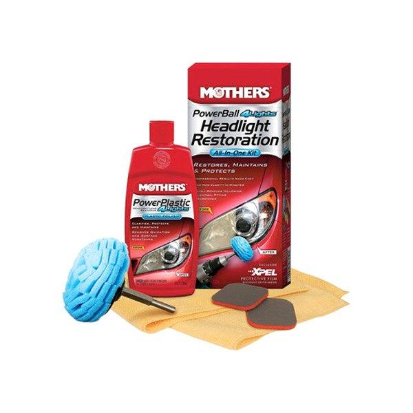 Auto Headlamp Polishing: Headlight Restoration Kit Auto Car Glass Cleaners Mothers