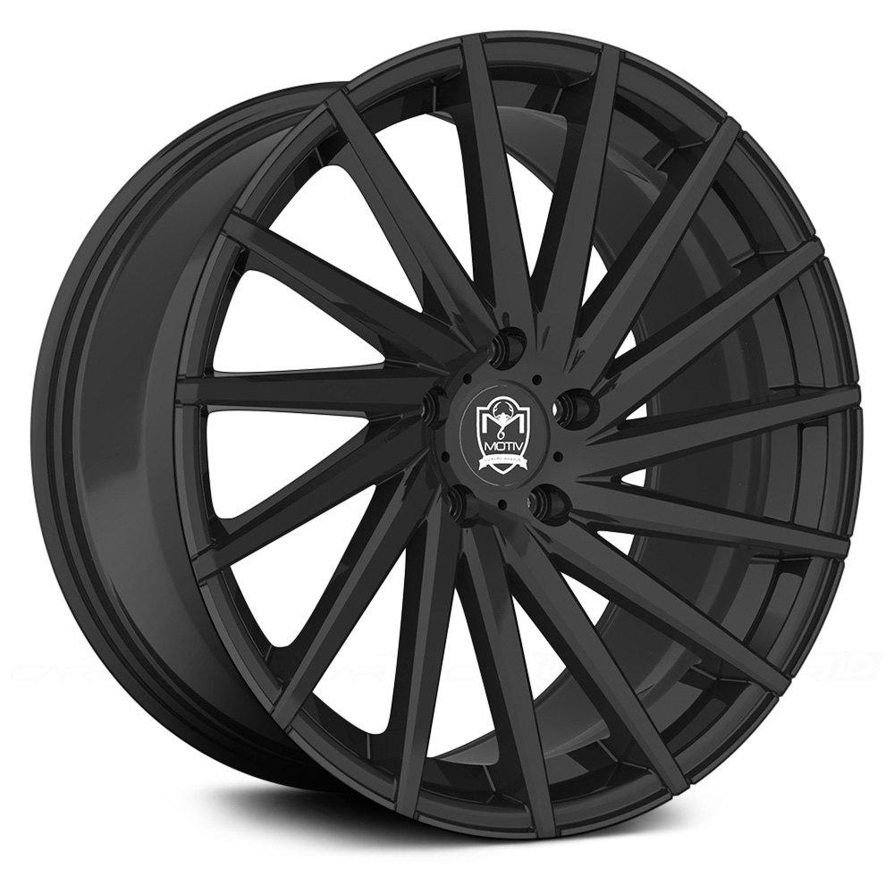 Motiv 174 417b Montage Wheels Satin Black Rims