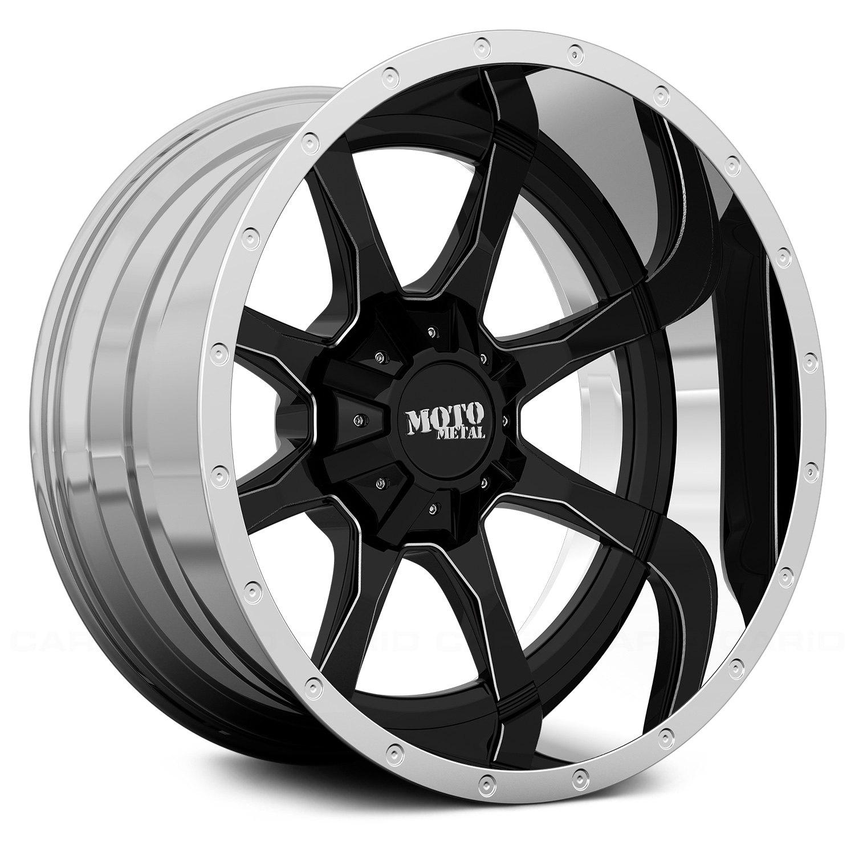 moto metal wheels. MOTO METAL® - MO201 Gloss Black Milled Center With Chrome Lip Moto Metal Wheels