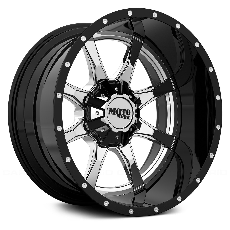 moto metal wheels. moto metal® - mo201 chrome center with black and milled lip moto metal wheels