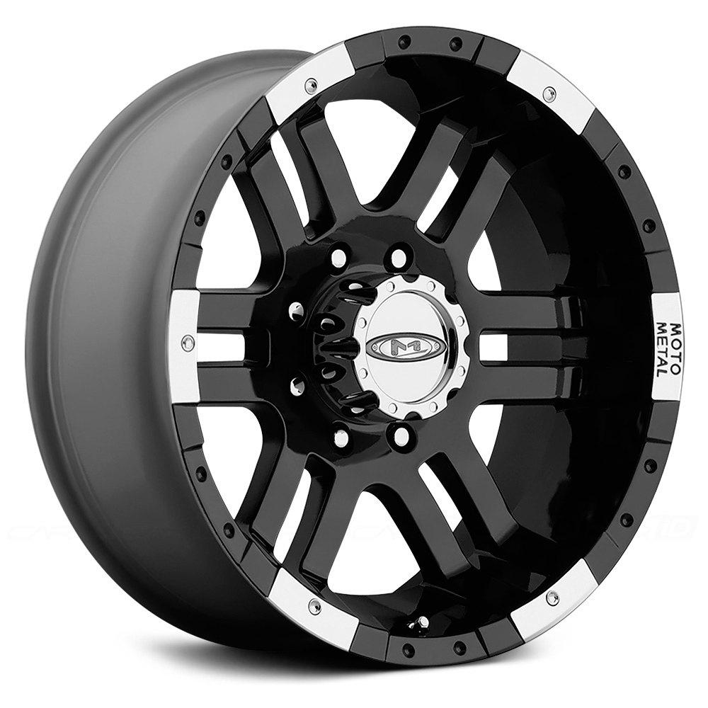 Moto Metal 174 Mo951 Wheels Gloss Black With Machined Bezel